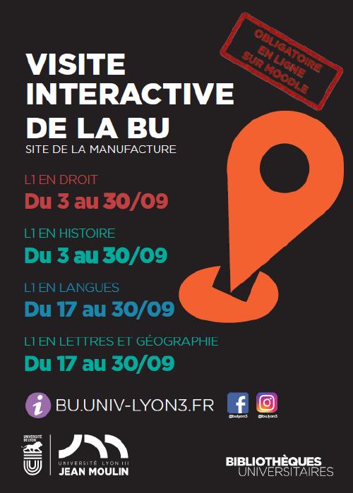 Affiche dates visites de la BU 2020