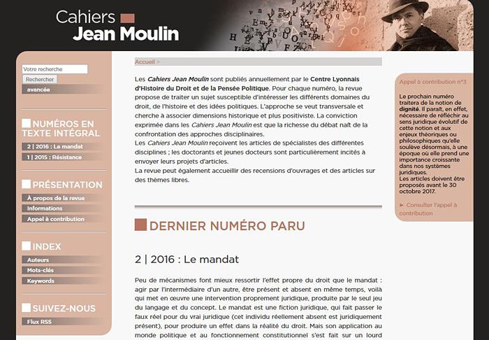 Cahiers Jean Moulijn