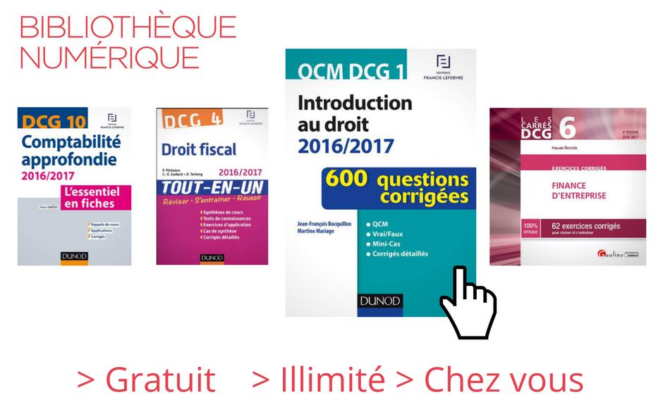 selection ebook DCG DSCG bibliothèque numérique