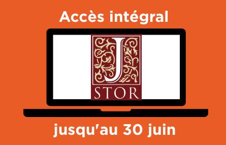 Jstor : accès intégral jusqu'au 30 juin